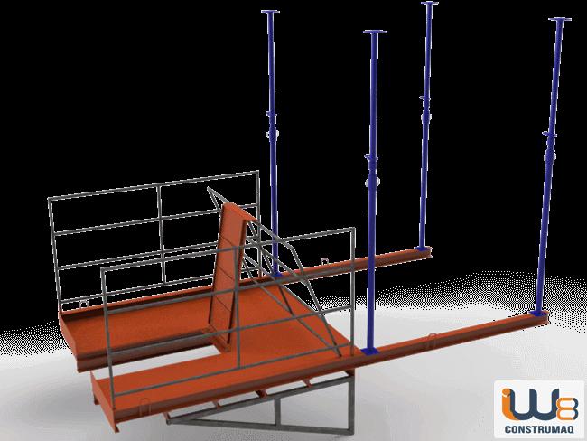 plataforma com alcapao para descarga