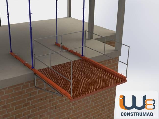plataforma para descarga de materiais em obras